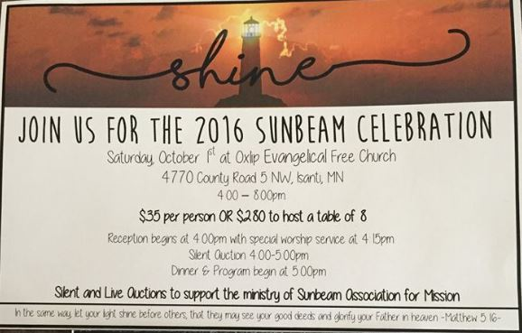 2016 Sunbeam Celebration